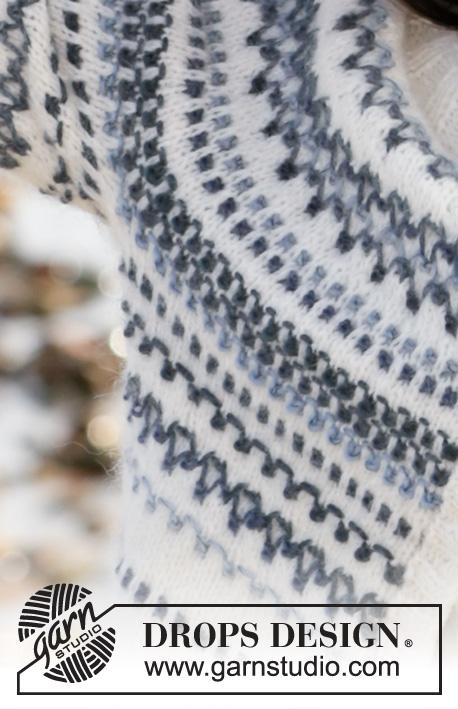 Spring Fjords Cardigan Strikket jakke med rundfelling i