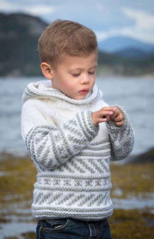 Viking Genser Barn Hvitgrå 1411-12
