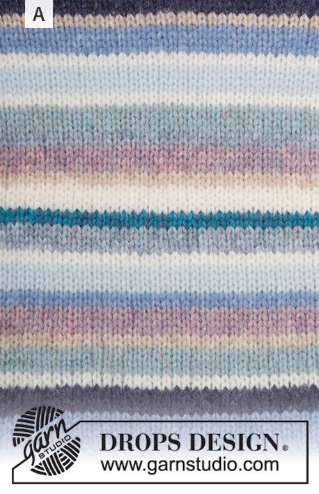 Drops Happy Stripes genser 202 - 1