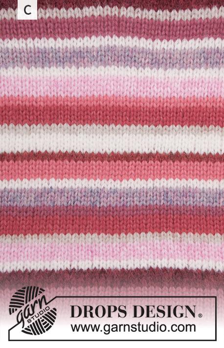 Happy Stripes Genser (Barn) Strikkepakke Strikk.no