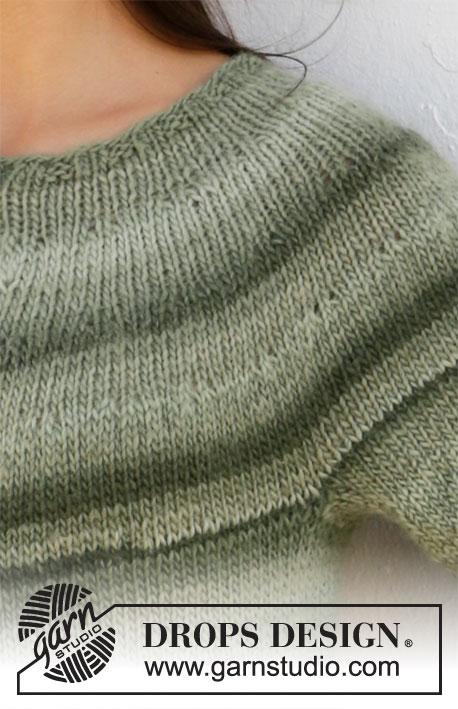 Drops Mountain Moss genser 210 - 20