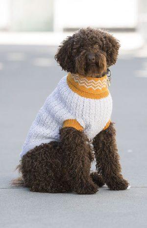 Bilde av hund med Hvit/gul refleksvest hund 1711-25